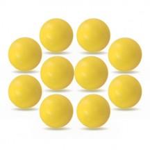 Set 10 palline Roberto Sport ITSF gialle senza logo
