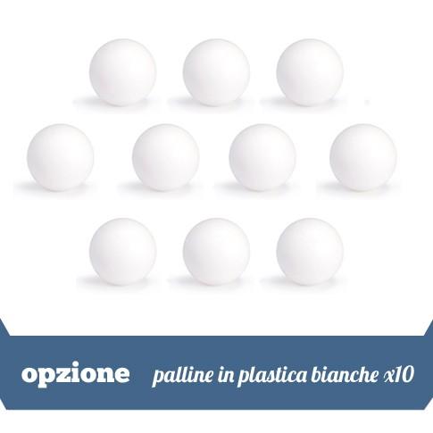 10 palline di plastica bianche