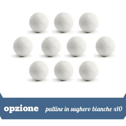 10 palline in sughero bianche