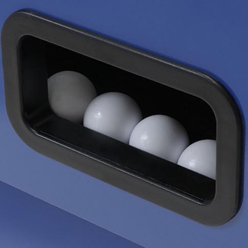 calciobalilla grigio blu palline bianche