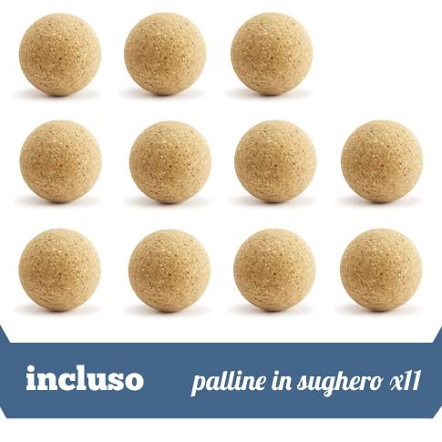 11 palline in sughero