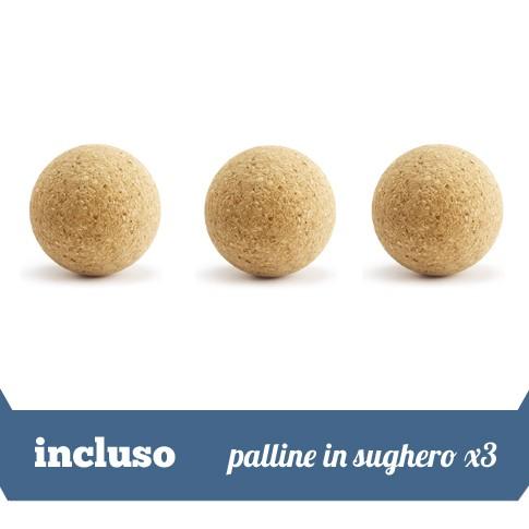 3 palline in sughero