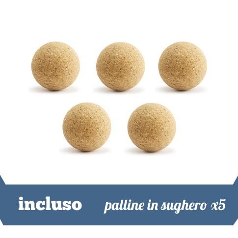 5 palline in sughero